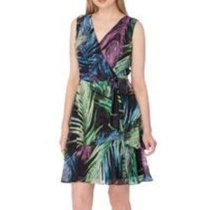 Tahari Multi Colored Sleeveless Dress Sz 14